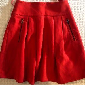 Anthropologie Skirts - Anthropology Maeve scarlet swing zipper skirt